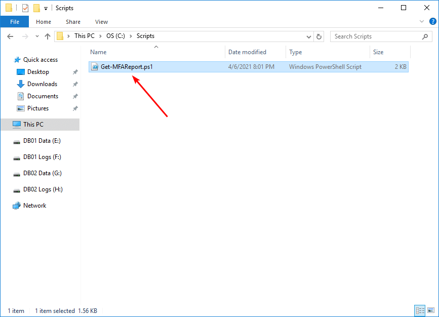 Export Office 365 users MFA status with PowerShell scripts folder