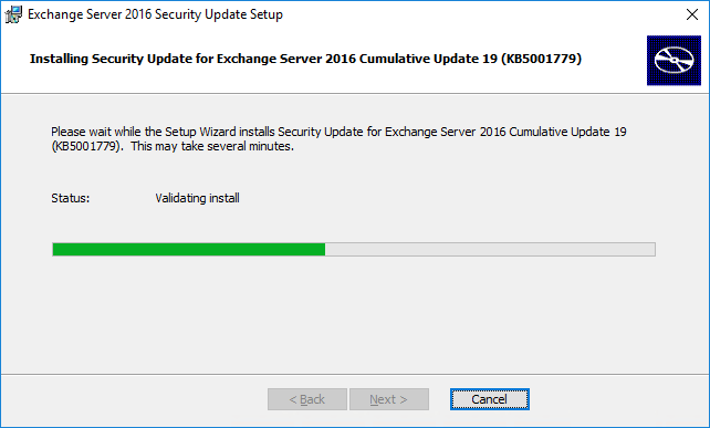 Install Exchange Security Updates step 4