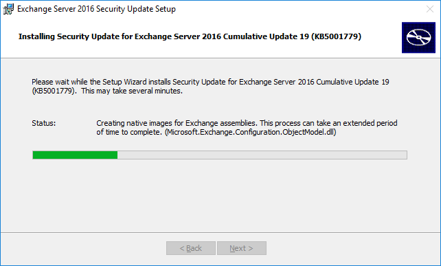 Install Exchange Security Updates step 5