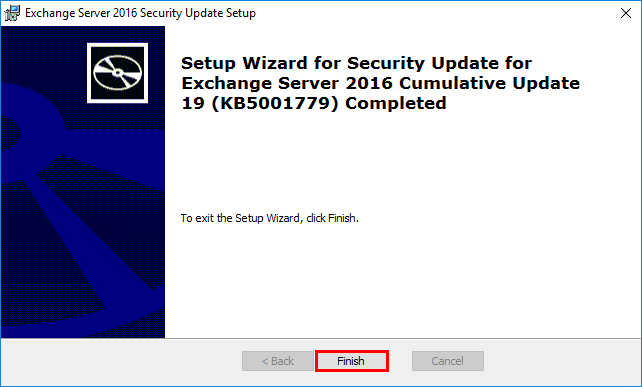 Install Exchange Security Updates step 6