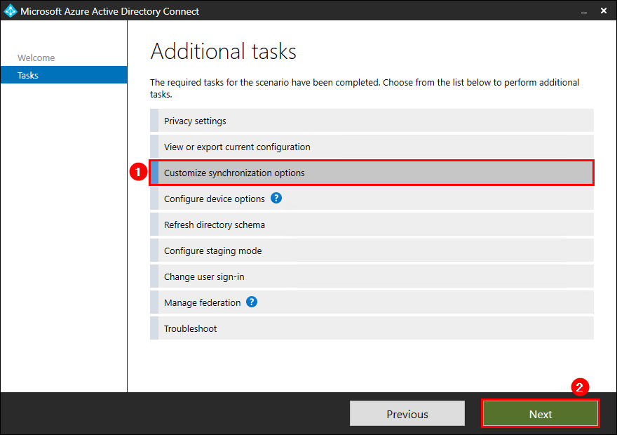 Move Azure AD Connect to new tenant 06