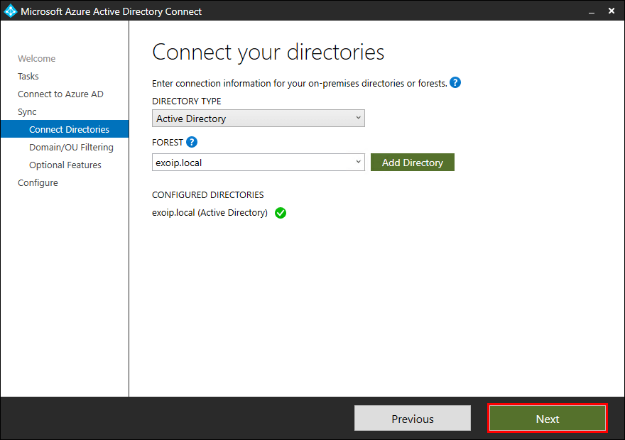 Move Azure AD Connect to new tenant 08