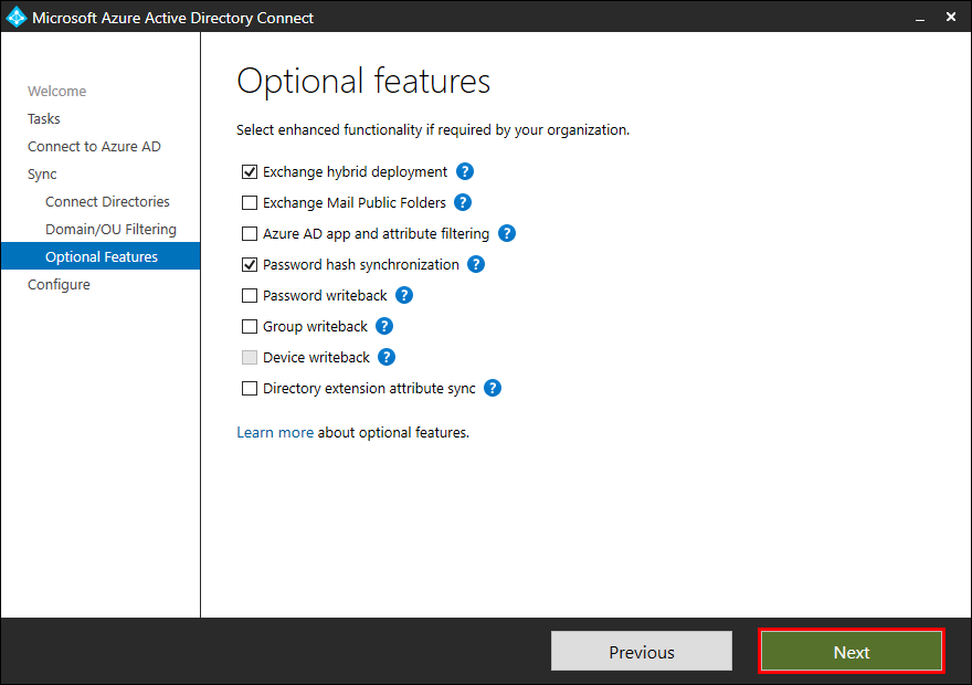 Move Azure AD Connect to new tenant 10