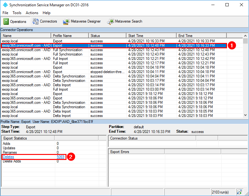 Move Azure AD Connect to new tenant 14
