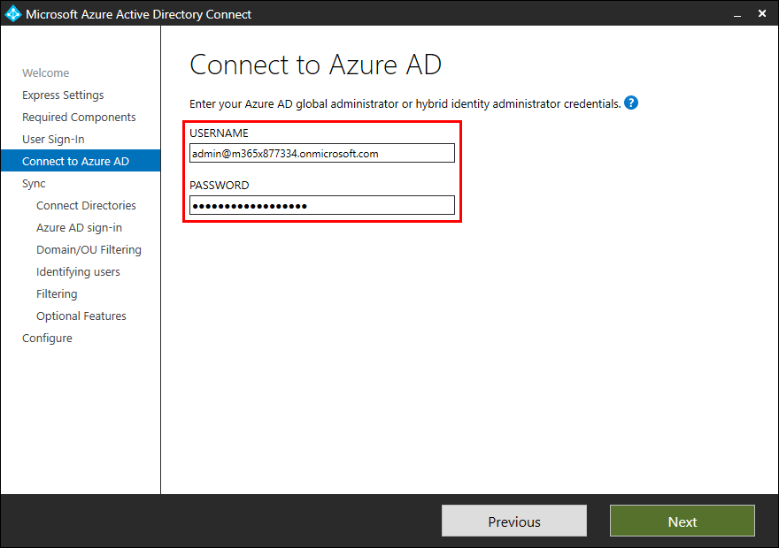Move Azure AD Connect to new tenant 27