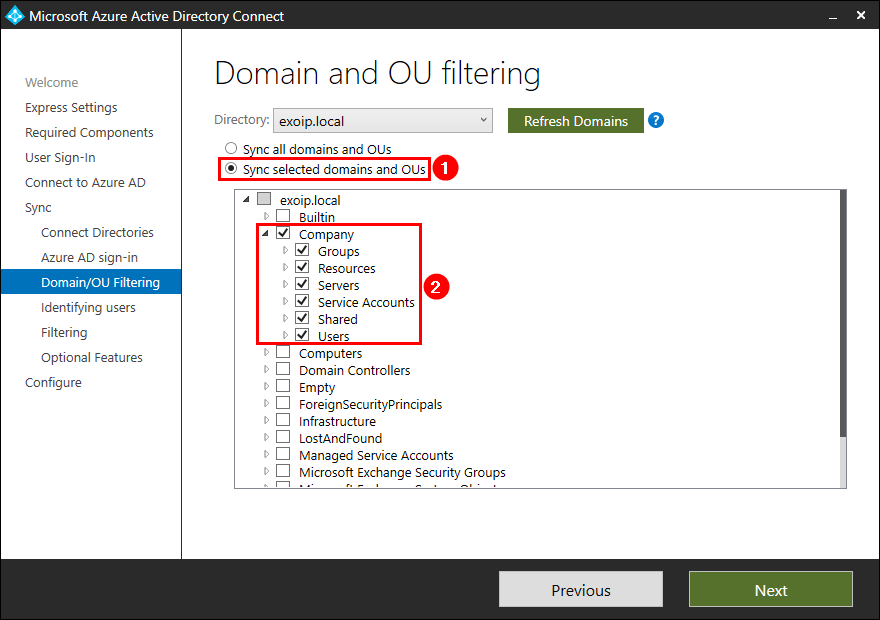 Move Azure AD Connect to new tenant 28