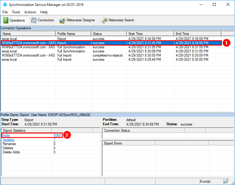 Move Azure AD Connect to new tenant 29
