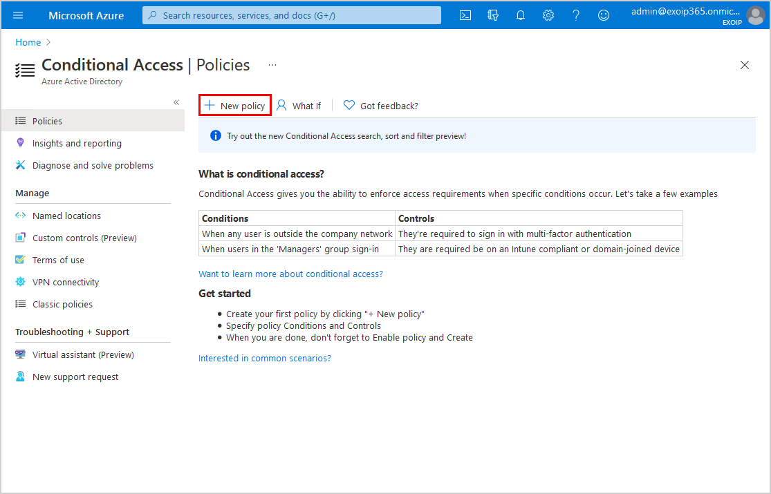 Move from per-user MFA to Conditional Access based MFA new CA policy