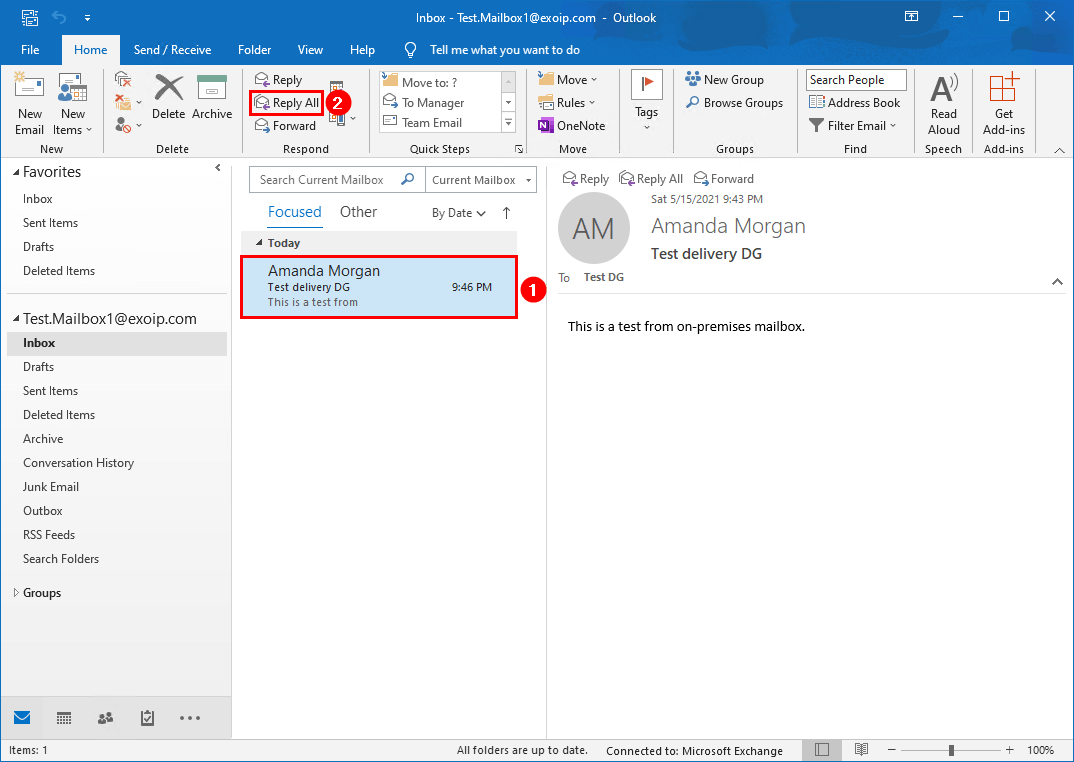 Create distribution group in Exchange hybrid reply all