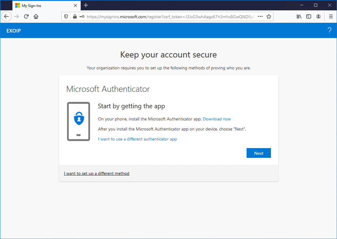 Trusted location keep your account secure Microsoft Authenticator