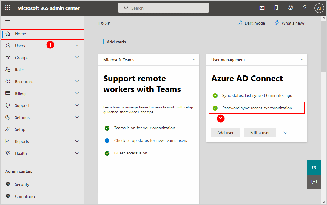 Force password sync Azure AD Connect recent sychronization