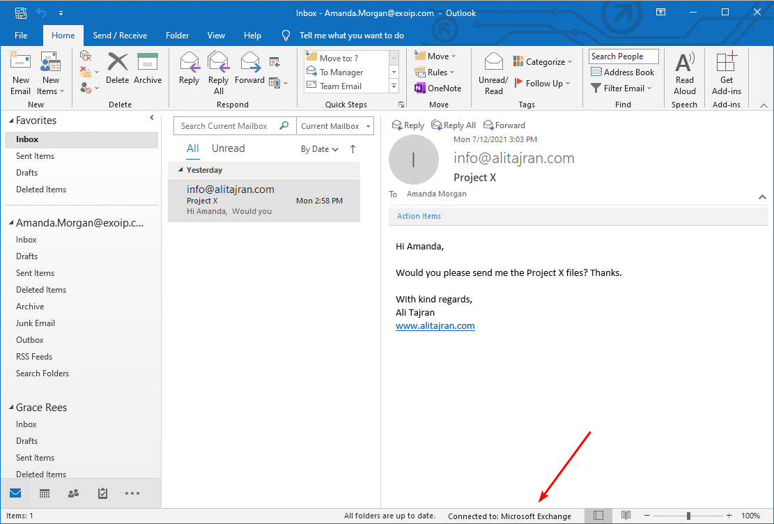 Outlook needs password after