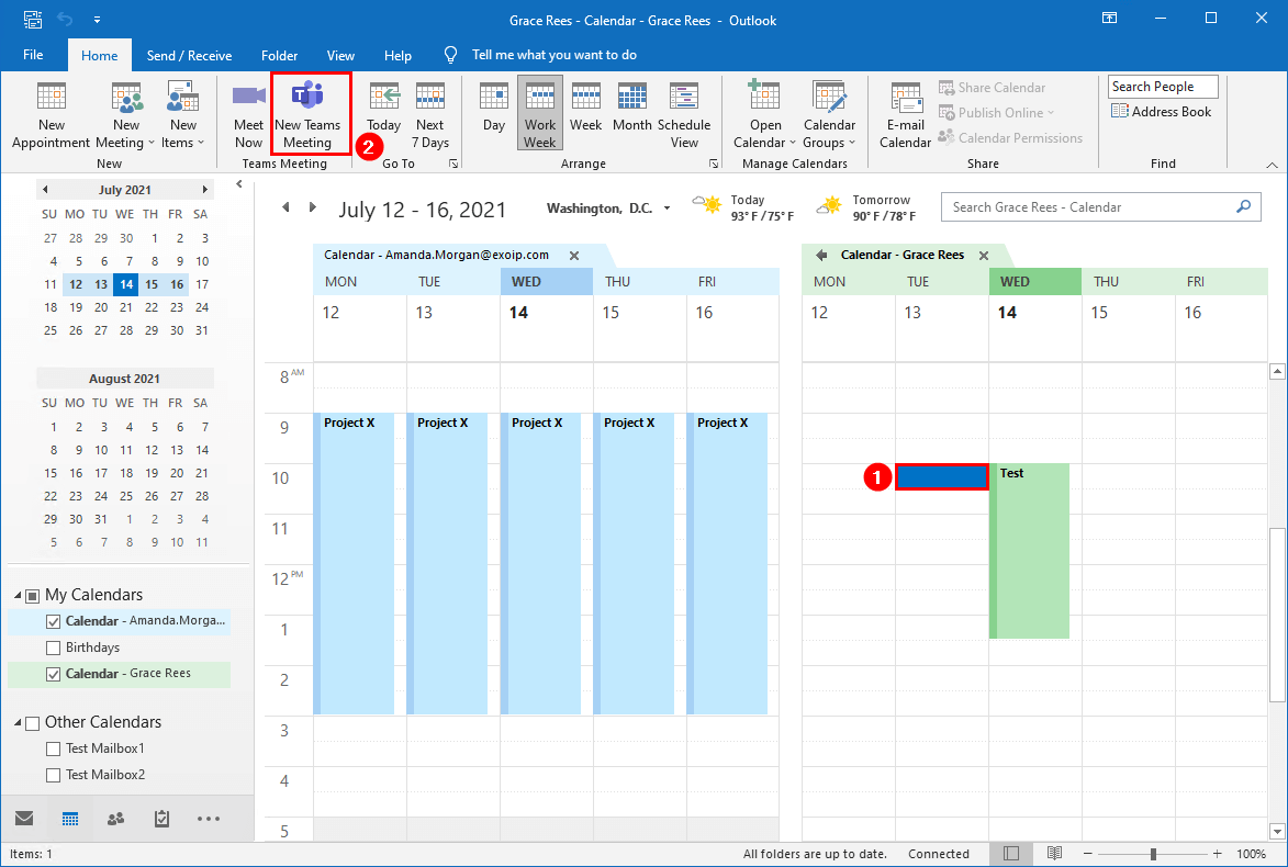 Create new Teams Meeting on behalf another user in Outlook