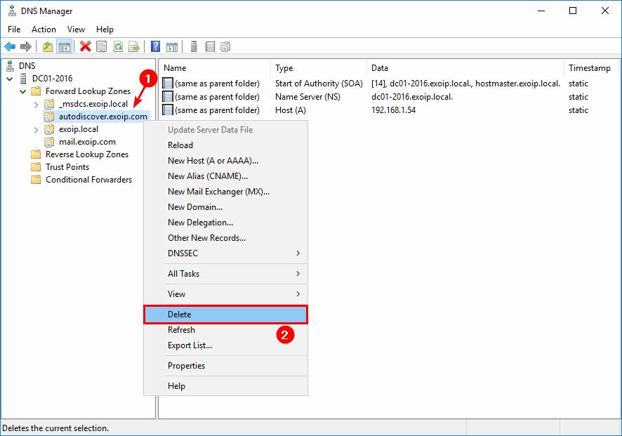 Autodiscover URL in Exchange hybrid internal DNS Exchange Online