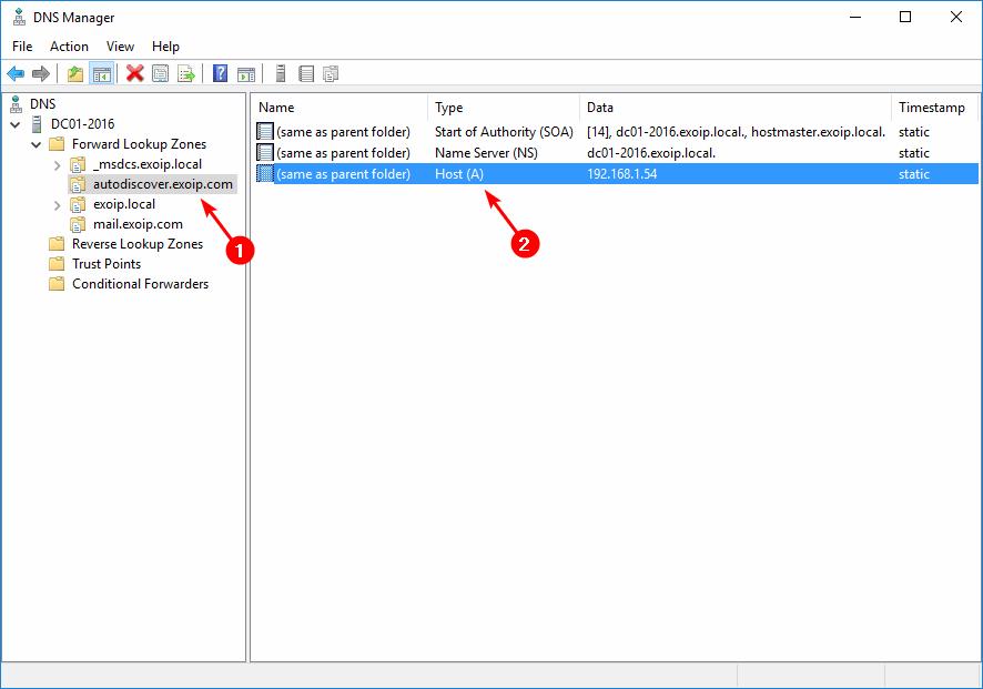 Remove internal DNS autodiscover entries