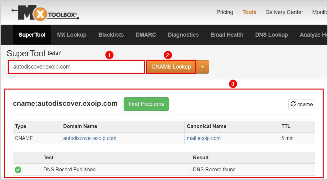 Autodiscover URL in Exchange hybrid mxtoolbox Exchange on-premises