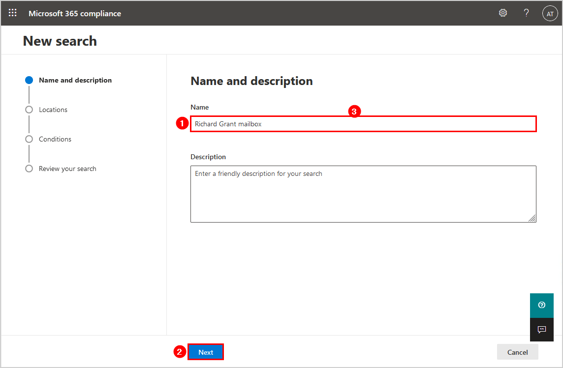 Name and description