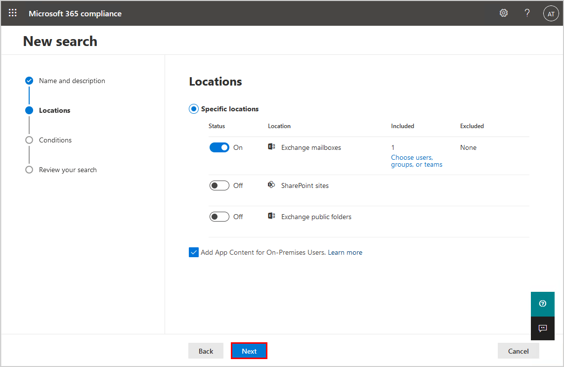 Locations fields completed