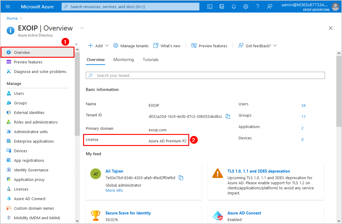 Move from remember MFA on trusted device check Azure AD license