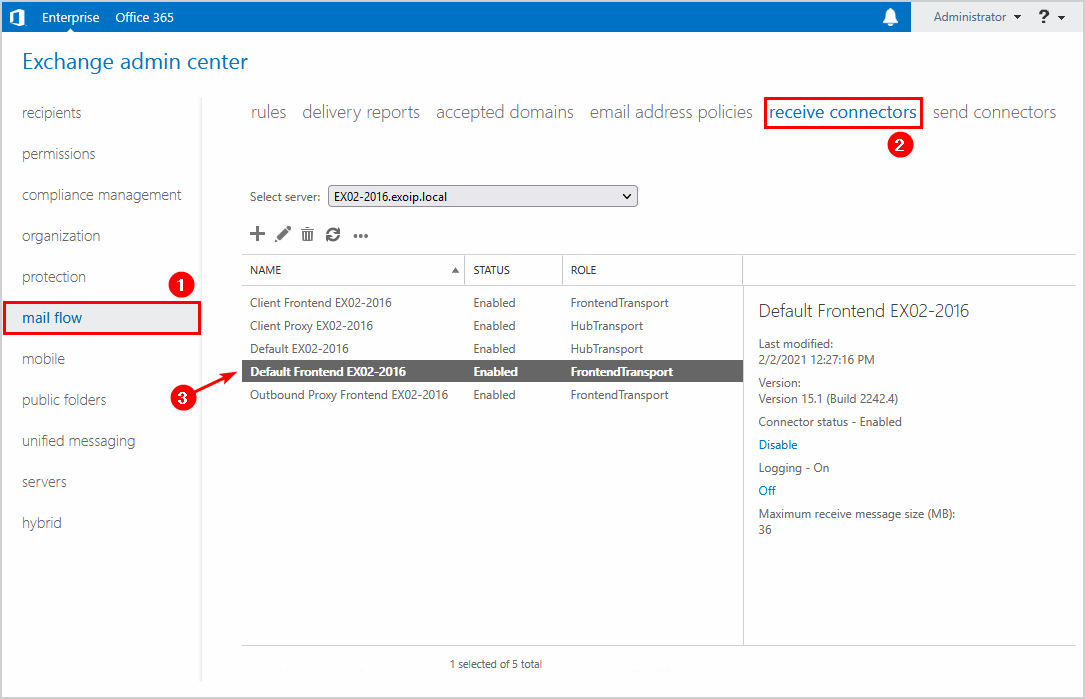 Copy default frontend name