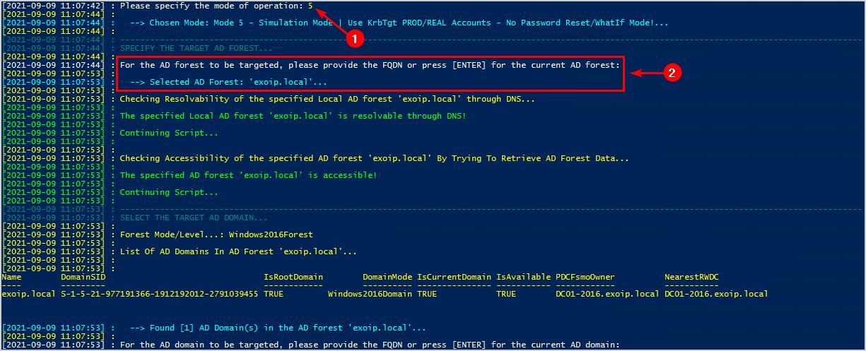 KRBTGT account password reset script step 3