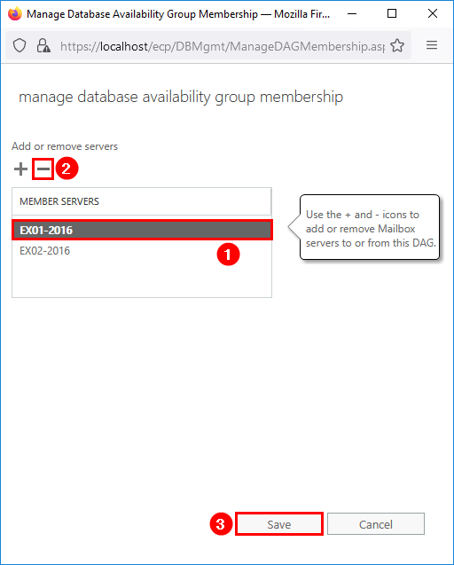 Mailbox server cannot be removed from DAG remove member server
