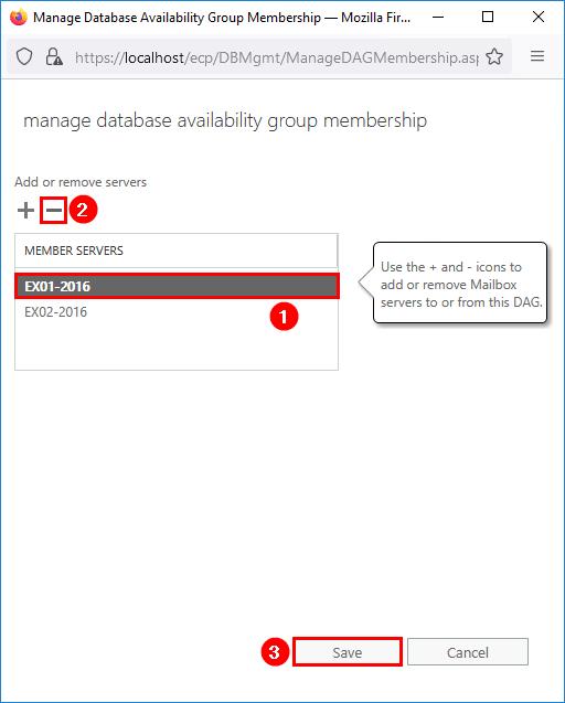 Remove DAG member server