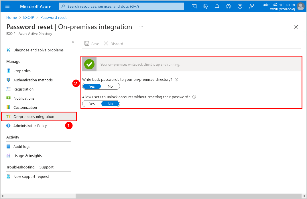 Configure Azure AD Password Protection for on-premises password writeback