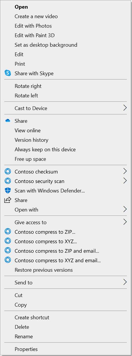 Windows 11 context menu old